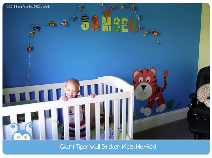 Giant Tiger Decal, by Kelsi Hatsfield.  Vote for Kelsi if you think this is the best kids room!