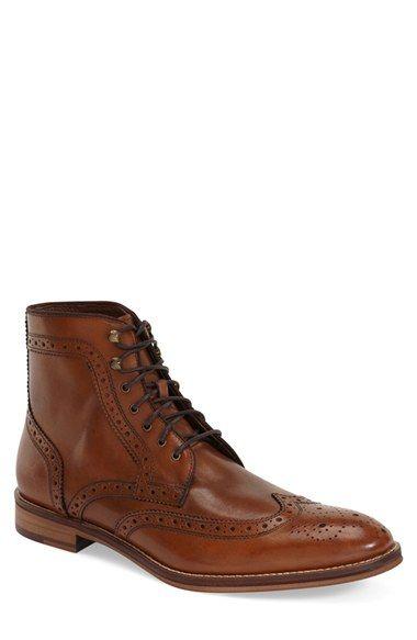 Black.   Johnston & Murphy 'Conard' Wingtip Boot (Men) at Nordstrom.com. Classic broguing elevates a stylish boot formed from fine Italian calfskin.
