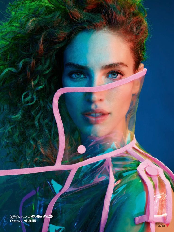 Image result for neon light fashion editorial rain