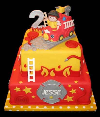 Little Firefighter Birthday Cake | Shared by LION