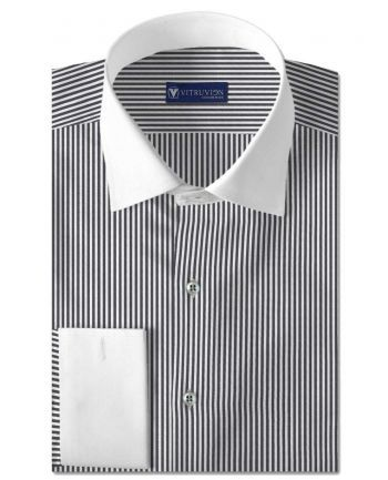 Buy The Reversal custom tailored banker shirts for men made out of best cotton shirting fabric @Vitruvien.com. Click now to buy Egyptian cotton shirts today!