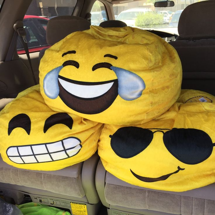 So this happened... I was walking through Walmart, minding my own business, and these emoji beanbags threw themselves into my cart.  So...