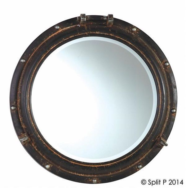 Nautical Porthole Mirror Beveled Glass Beach Decor Coastal Cottage Wall Mirrors | eBay