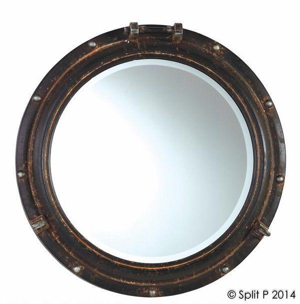 Nautical Porthole Mirror Beveled Glass Beach Decor Coastal Cottage Wall Mirrors | eBay