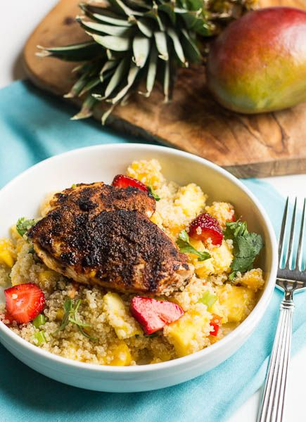 Jerk Chicken with Caribbean Quinoa- great recipe for #Advocare Cleanse