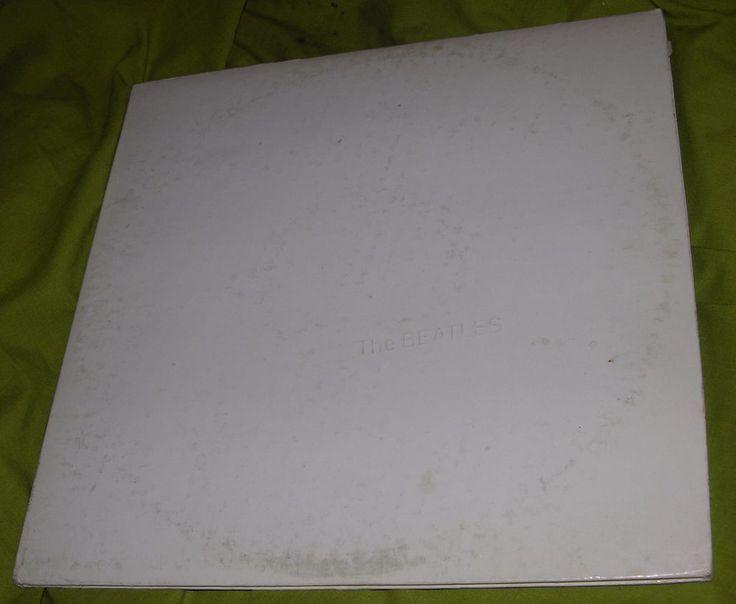 THE BEATLES WHITE ALBUM 2 RECORD VINYL SWBO 101 APPLE RECORDS VINTAGE  #APPL