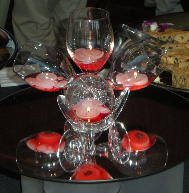 25 best ideas about wine glass centerpieces on pinterest for Centerpieces made with wine glasses