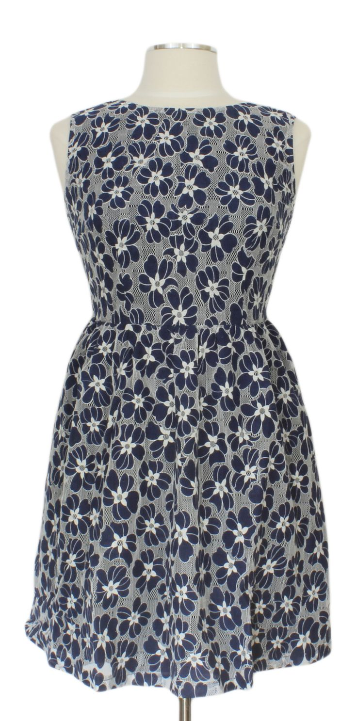 One That I Want Dress @ Ever Rose #blue #dress #floral #lace #daydress