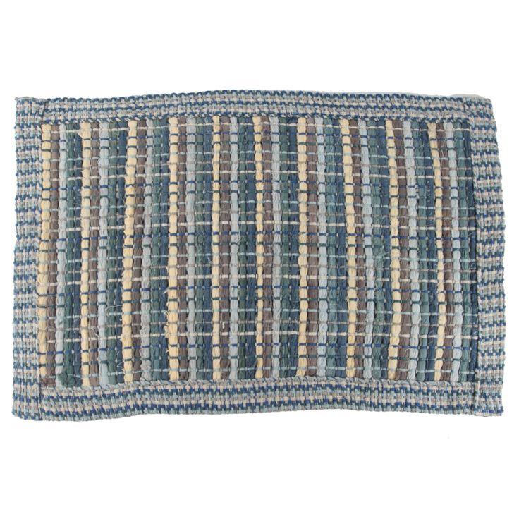 Jovi Home Border Chindi Cotton Rug - Blue JOBCR-BL |