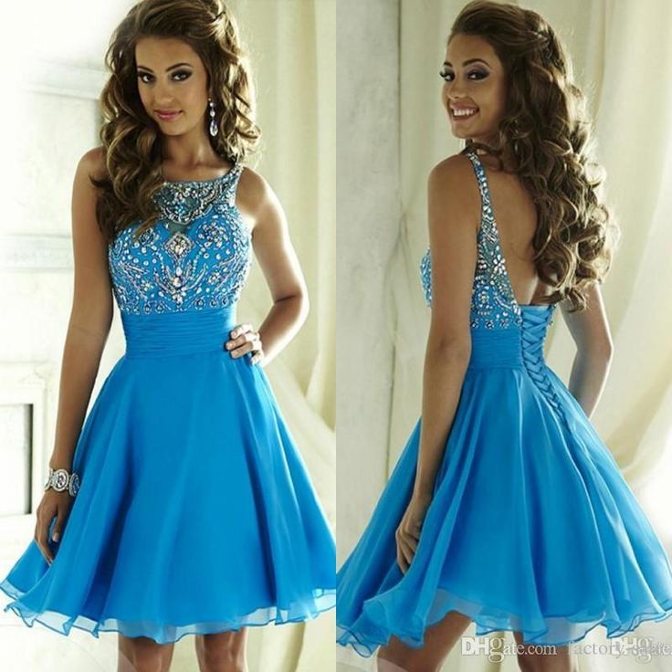 Mini Short 2017 Summer Junior Homecoming Dresses A Line Beaded Crystals Chiffon Ruffles Backless Cocktail Graduation Gowns For Juniors Black Dresses Cheap Dresses From Factory Sale, $127.8| Dhgate.Com