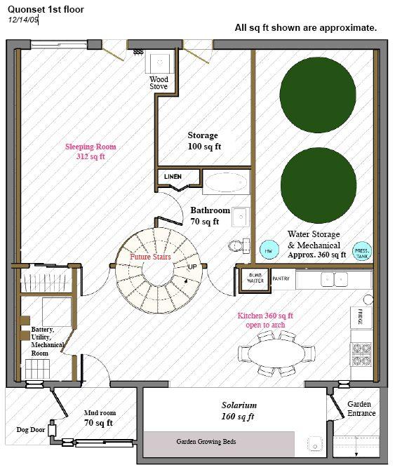 Quonset Hut Floorplan Dream Home Pinterest House