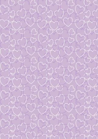 Valentine's Day Scrapbook Paper Purple Heart Background - available in pink, green,