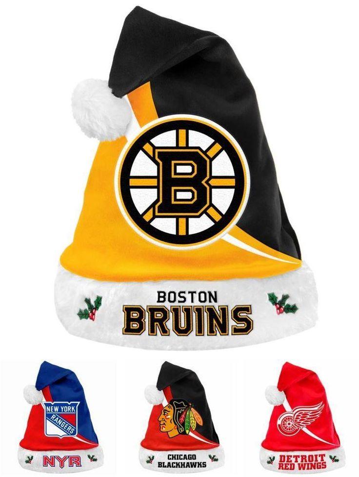 NHL 2013 Swoop Team Logo Plush Christmas Santa Hat - Pick Your Team!