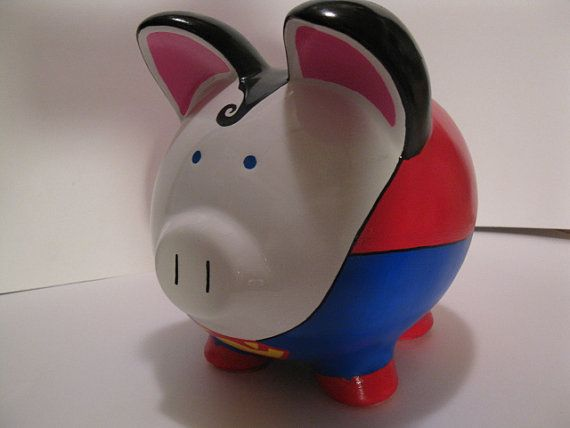 sumperman piggy bank