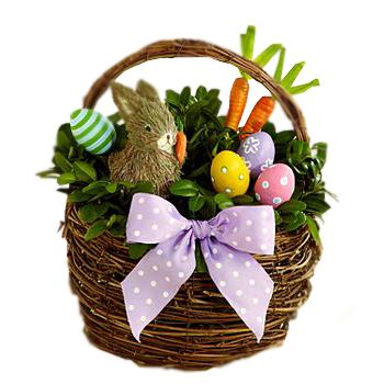 14 best easter gifts images on pinterest cake baskets and bouquets easter mood flower basket to usa negle Choice Image