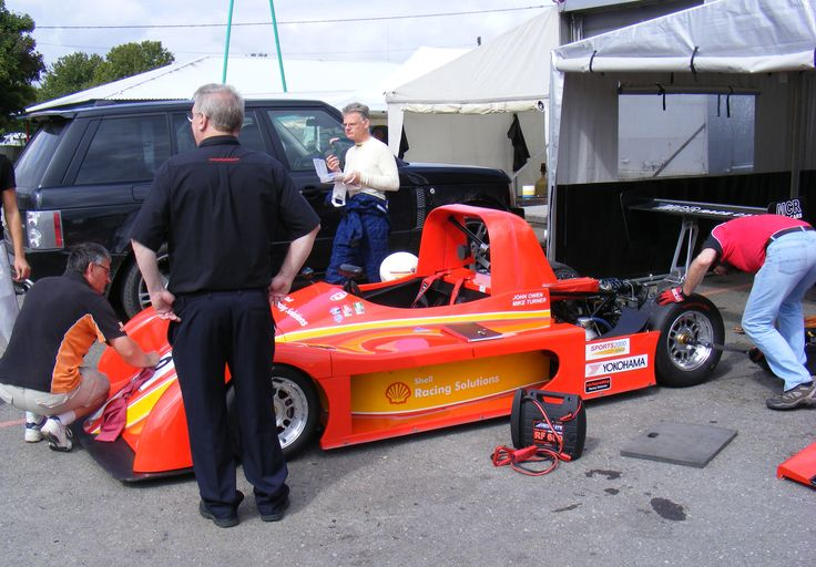 DC at Castle Combe in 2011 with Mike Turner and his Sports2000