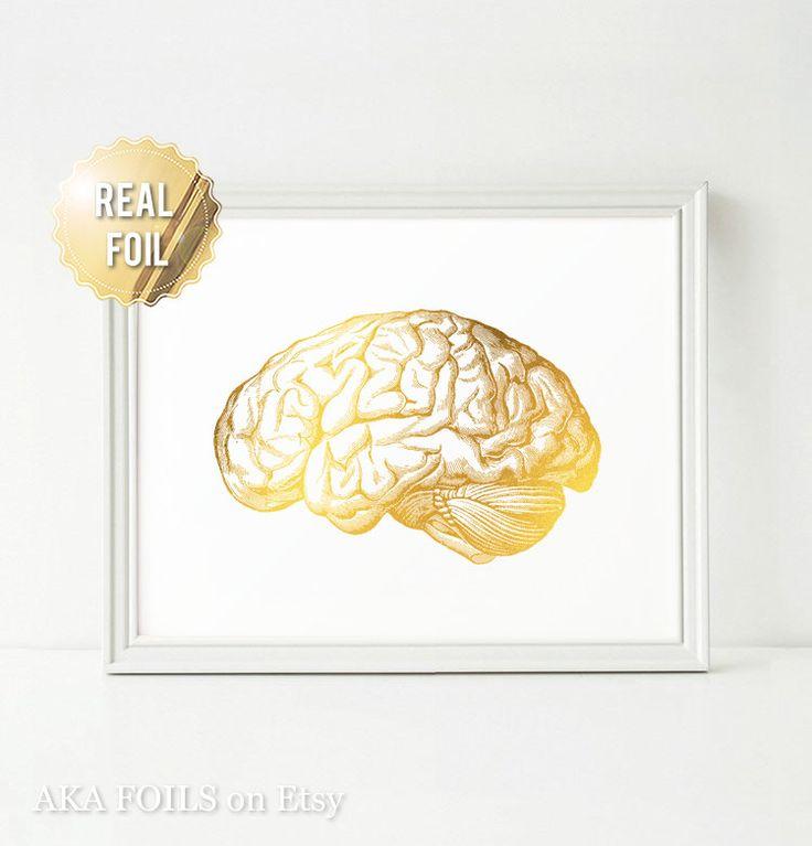 Ciencia cerebro arte impresión arte ciencia cartel hoja de