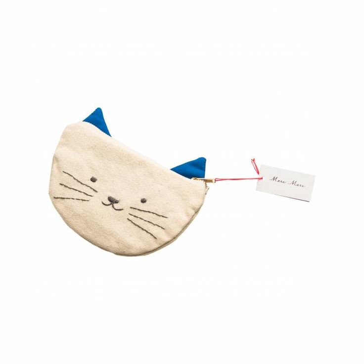 Show off your cat lady purrrsonality with this cute kitty zipper pouch by Tin and Velvet.
