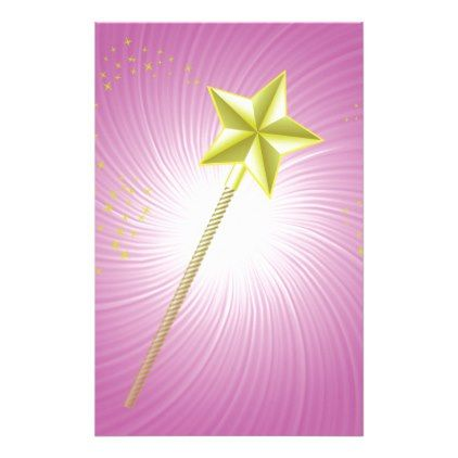 magic wand gold stationery - fun gifts funny diy customize personal