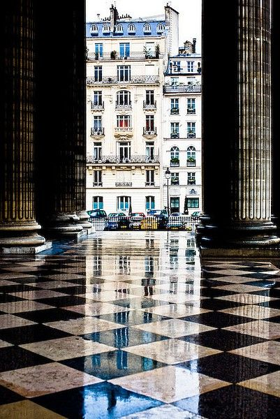 """""""Paris…is a world meant for the walker alone, for only the pace of strolling can take in all the rich (if muted) detail…"""" - Edmund White in The Flaneur   The Pantheon, Paris, by Adrian Campbell-Howard"""