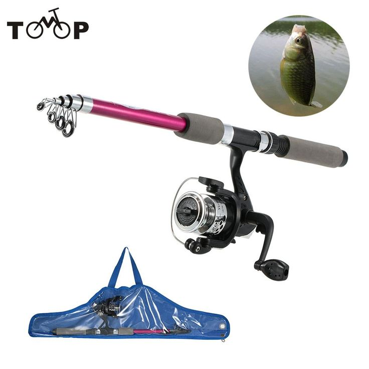 Stick Fishing Rod de Fibre Glass Carp Feeder Spinning Fishing Rod Set Reel for Sea Telescopic Pole With Kids' Fish Bag //Price: $28.00 & FREE Shipping //     #hashtag1