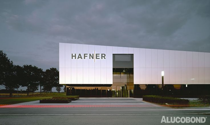 #precise #envelope made of #alucobond #natural reflects the activity of Philipp Hafner GmbH #facadefascination