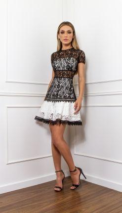 VESTIDO RENDA - VE20976-9C | Skazi, Moda feminina, roupa casual, vestidos, saias, mulher moderna