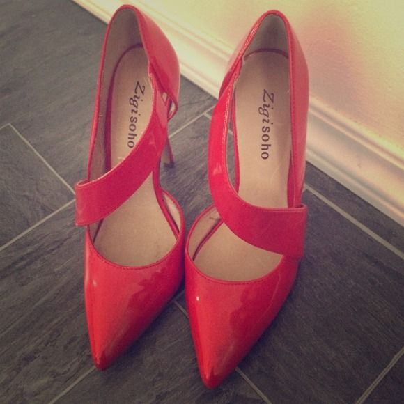 "Selling this ""Red patent leather heels by Zigi Soho."" in my Poshmark closet! My username is: jpatanio. #shopmycloset #poshmark #fashion #shopping #style #forsale #Zigi Soho #Shoes"