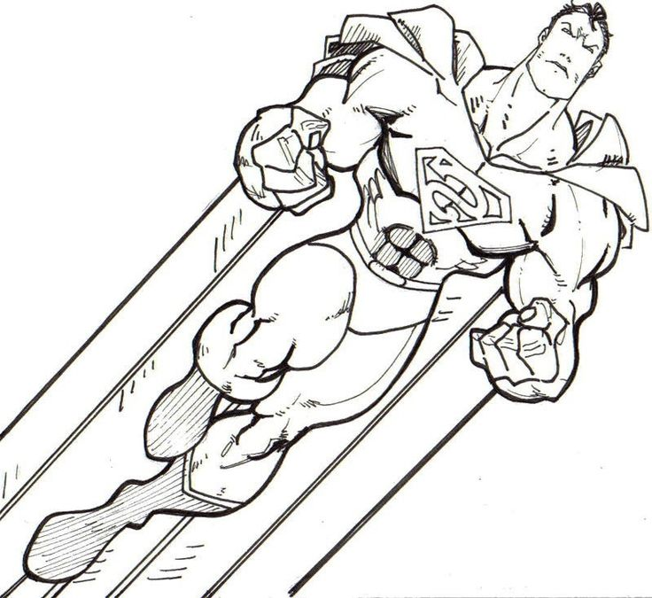 Super Strong Superman Coloring Page