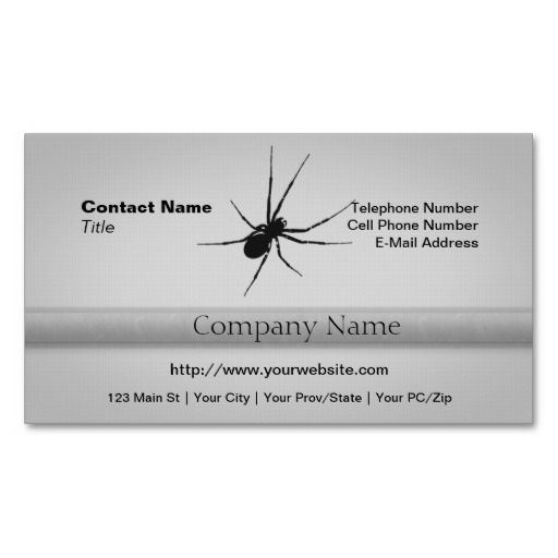 The Spider's Silhouette Business Cards