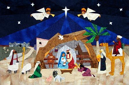 Advent Nativity Paper-Pieced Quilt Pattern at paperpanache.com