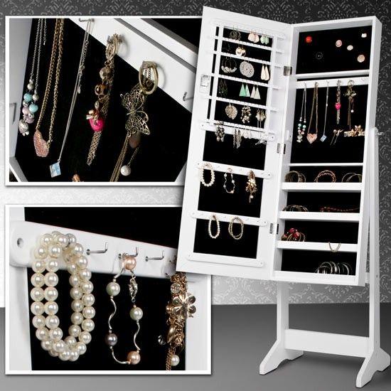 Schmuckschrank mit Spiegel. Alle Accessoires auf einen Blick   Jewellery Mirror Wardrobe, organise your accessoires   buy at Jago24