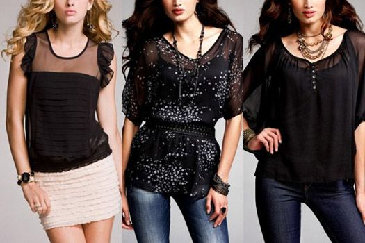 I really want the blouse in the middle.: Chiffon Blouses