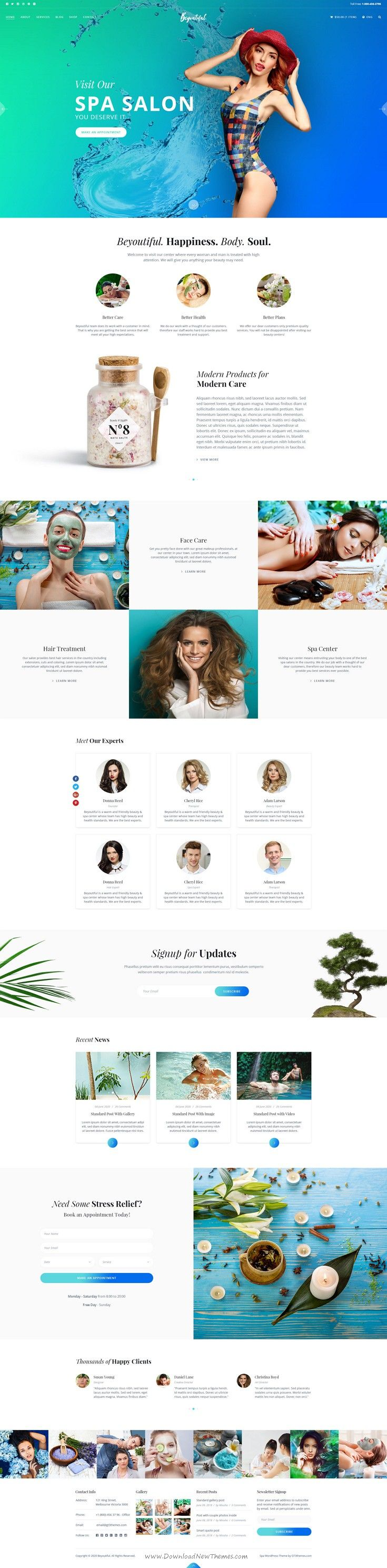 Beyoutiful is beautiful premium PSD template for Spa, #Beauty and Hair #Salon #website. Download Now!