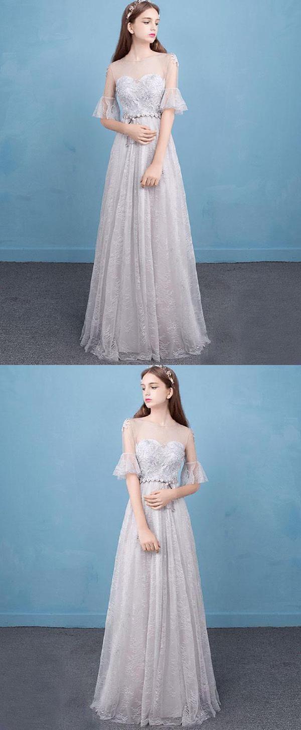Cute prom dresses evening dress long lace evening dress lace