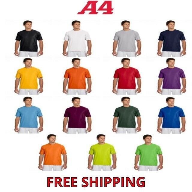 A4 Men S Cooling Performance T Shirt Workout Running Dri Fit