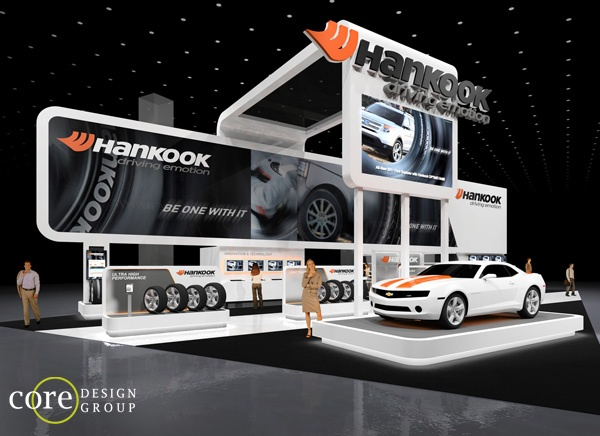 Cool exhibition stand for the automotive industry