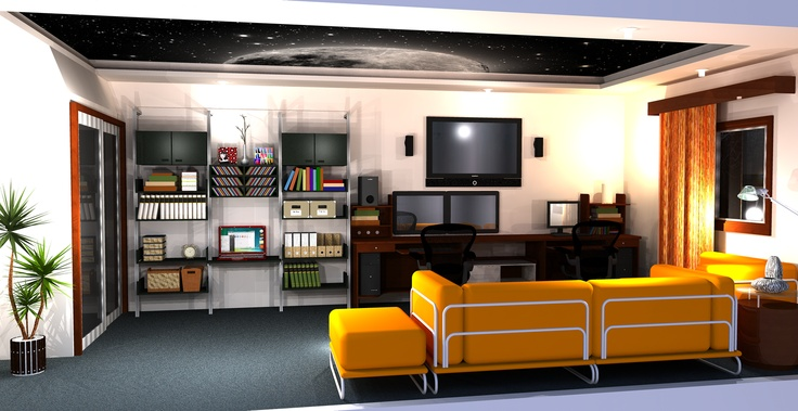 3D Mockup of my home office by Surya Murali