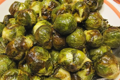 roasted brussels sprouts - ina garten is a genius! only 4 ingredients, quick and easy!