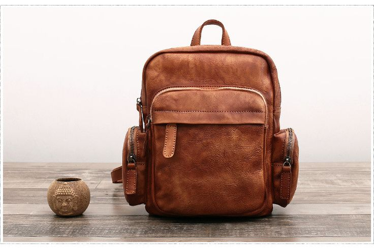Handmade Full Grain Leather Backpack Women Backpack F60