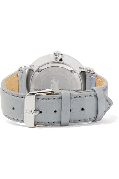 Larsson & Jennings - Lugano Leather And Stainless Steel Watch - Light gray - one size