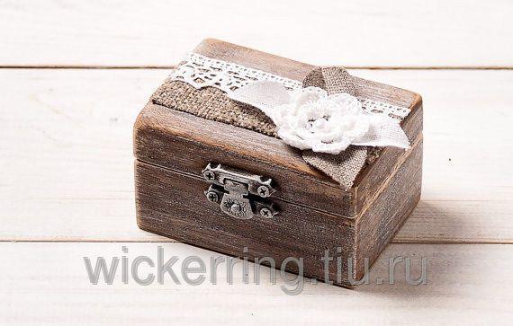 Свадебная шкатулка для обручальных колец, фото 1