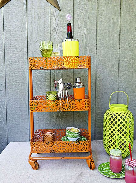 Marvelous A Colorful Cart Is Perfect For A Beverage Station When Youu0027re Entertaining  Outdoors! Find This Pin And More On Outdoor Dining By Tuesdaymorning.