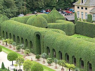 The incredible gardens of palace Het Loo in the Netherlands.