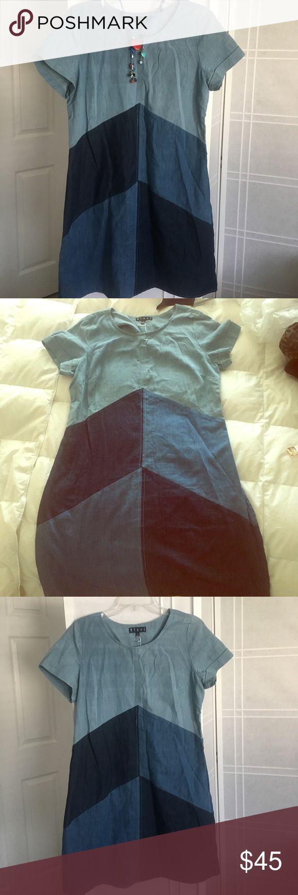Beautiful Jeans dress bluet Casual all occasions dress jeans whit multi colors jeans Dresses Mini