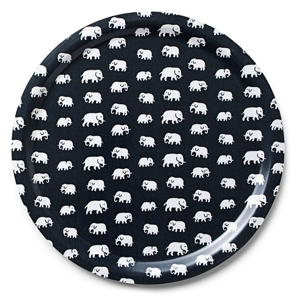 bricka elefant svart svenskt tenn 520 kr