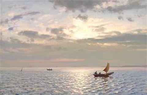Solspeil. Fra Hvaler by Amaldus Clarin Nielsen