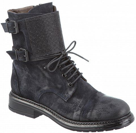 Ботинки женские Fru.it, цвет: Черный, нат. кожа/велюр - купить в Москве в интернет-магазине (2182)