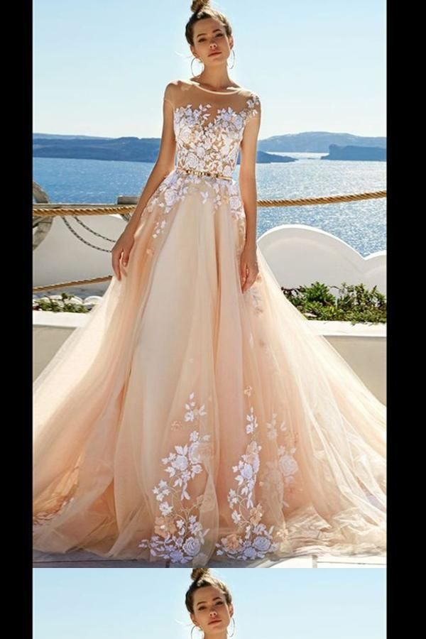 Hot Sale Enticing Cheap Prom Dresses, Prom Dresses A-Line, Prom Dresses Lace, 2019 Prom Dresses