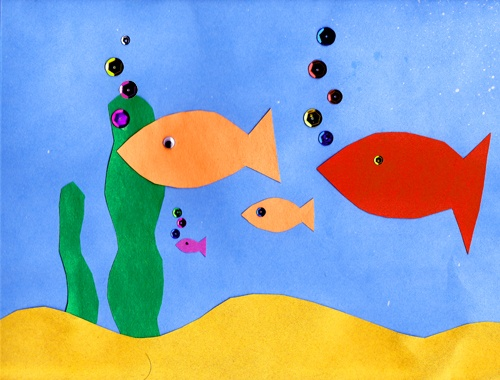 Aquarium Paper Craft Kids Will Have Fun Gluing On The Fish Kid